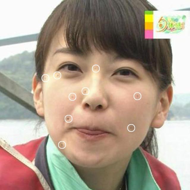 和久田麻由子アナのほくろ