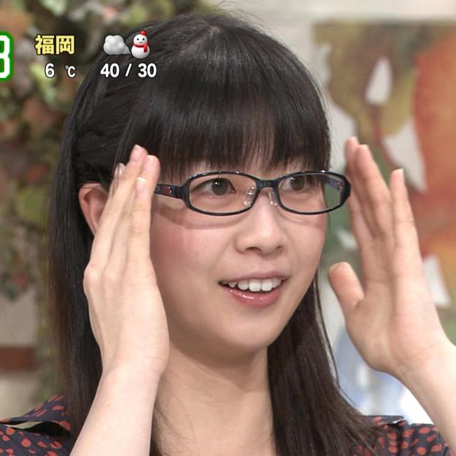 虎谷温子アナ(よみうりテレビ)のメガネ画像