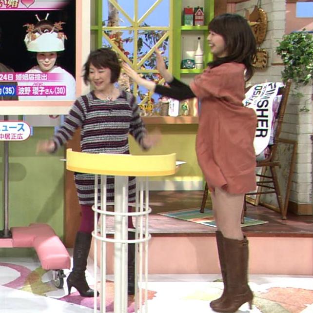 虎谷温子アナ(よみうりテレビ)の美脚