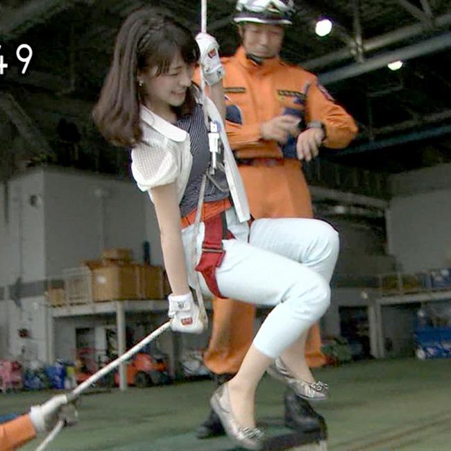 体当たり取材の赤木野々花アナウンサー(NHK)
