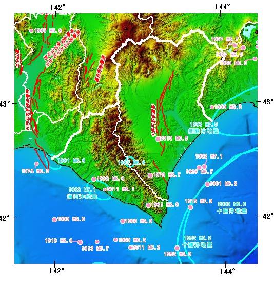 北海道の断層