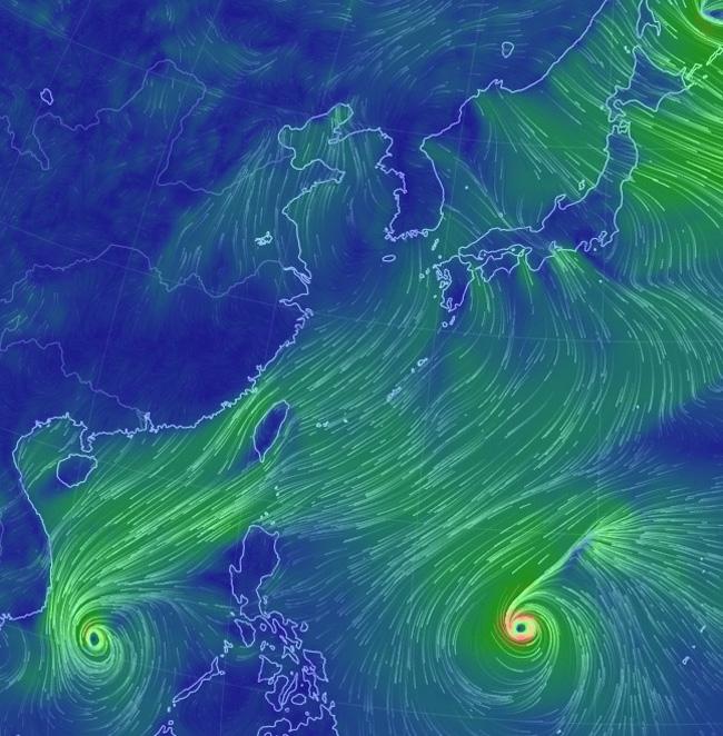 台風28号マンニィ