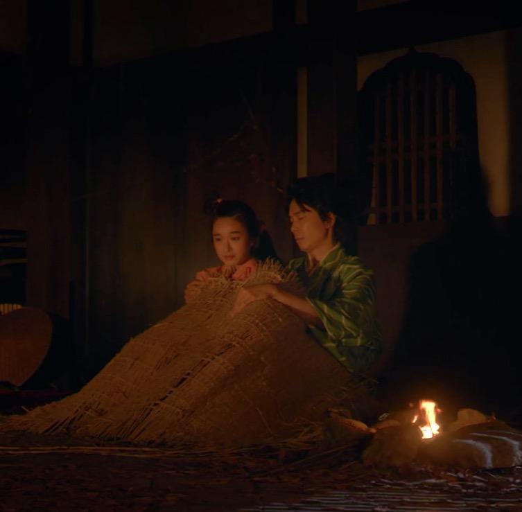 麒麟がくる・第6話より 十兵衛(長谷川博己)とお駒(門脇麦)
